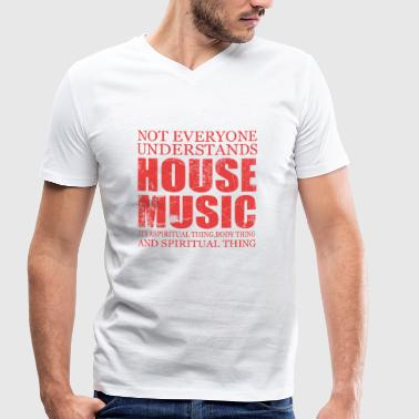 Old Skool House Music House music - Men's Organic V-Neck T-Shirt by Stanley & Stella
