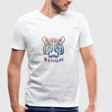 Bengal tiger - Men's Organic V-Neck T-Shirt by Stanley & Stella