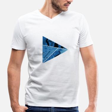 Play Button Play button - Men's Organic V-Neck T-Shirt by Stanley & Stella