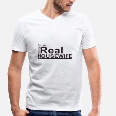 Housewife housewife - Men's Organic V-Neck T-Shirt by Stanley & Stella