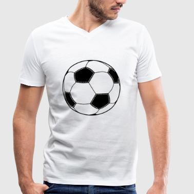 Pattern Soccer Soccer - Men's Organic V-Neck T-Shirt by Stanley & Stella