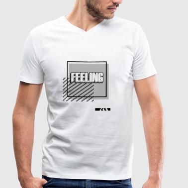 FEELING - feelings - Men's Organic V-Neck T-Shirt by Stanley & Stella