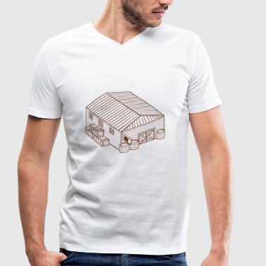 building house homes architecture house gebaeude185 - Men's Organic V-Neck T-Shirt by Stanley & Stella