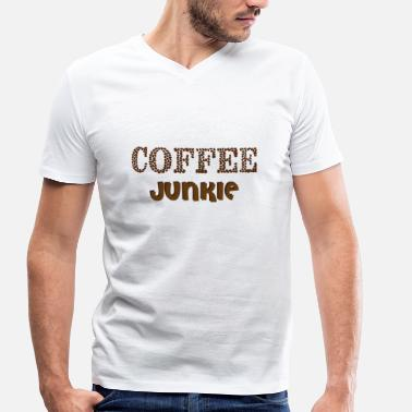 Junky coffee Junkie - Men's Organic V-Neck T-Shirt by Stanley & Stella
