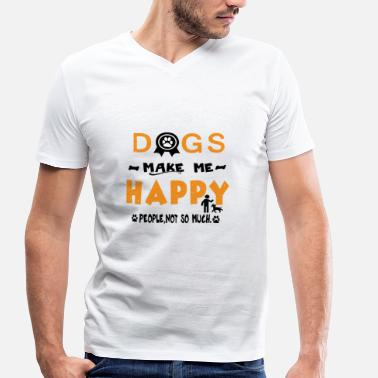 Pet Lover Dogs Happy pet lover Pet dog lover - Men's Organic V-Neck T-Shirt by Stanley & Stella