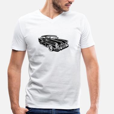Chevy Impala Chevy Cadilac / Muscle Car 02_black - Men's Organic V-Neck T-Shirt by Stanley & Stella