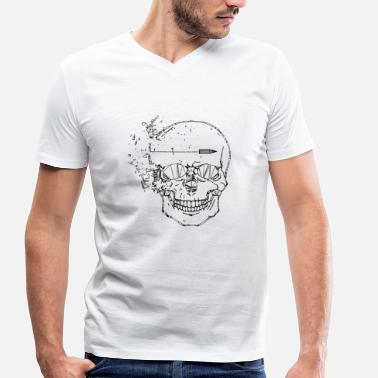 Shot In The Head Shot head - Men's Organic V-Neck T-Shirt by Stanley & Stella