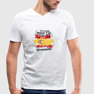 HOLIDAY Spain espanol TRAVEL IN IN Spain Granada - Men's Organic V-Neck T-Shirt by Stanley & Stella