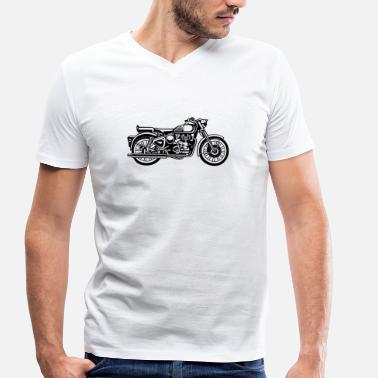 Jawa Motorcycle / Motorcycle 02_black - Men's Organic V-Neck T-Shirt by Stanley & Stella