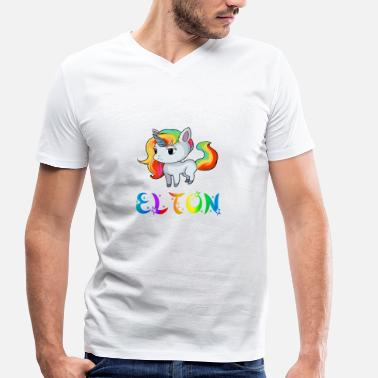 Elton Unicorn Elton - Men's Organic V-Neck T-Shirt by Stanley & Stella