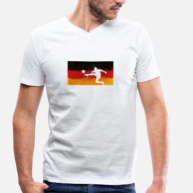 German Flag German Germany flag football - Men's Organic V-Neck T-Shirt by Stanley & Stella