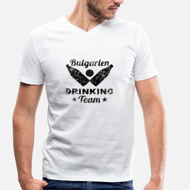 Binge Drinking Bulgarie Drinking Team Alcool Party Bière Vacances - T-shirt bio col V Stanley & Stella Homme