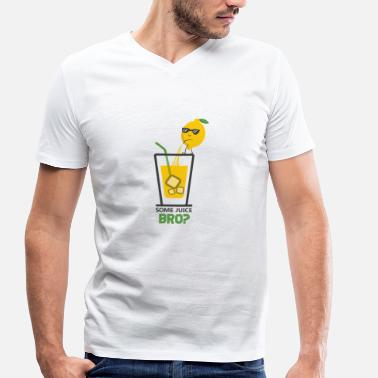 Lemon Jokes Lemon juice lemon peels juice in glass - Men's Organic V-Neck T-Shirt by Stanley & Stella