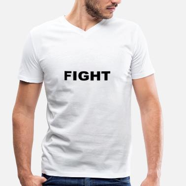 Fight Fit Fight - Men's Organic V-Neck T-Shirt by Stanley & Stella