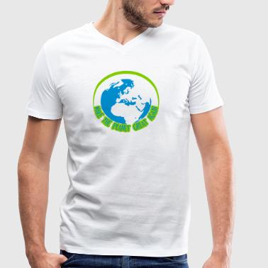 Make the planet great aga - Men's Organic V-Neck T-Shirt by Stanley & Stella