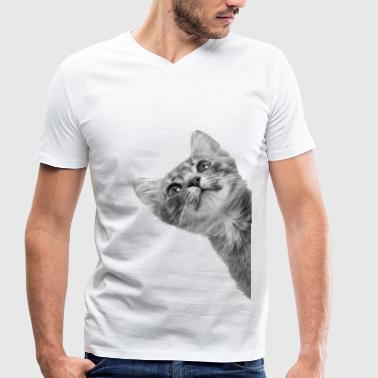 Sneaky cat - Men's Organic V-Neck T-Shirt by Stanley & Stella