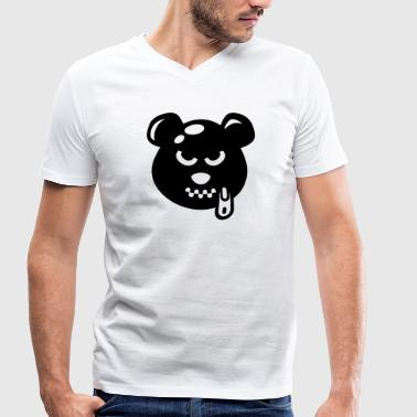 Latex Bear - Men's Organic V-Neck T-Shirt by Stanley & Stella