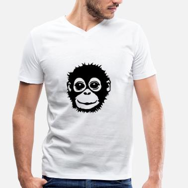 Orang Outan Singes - T-shirt bio col V Stanley & Stella Homme