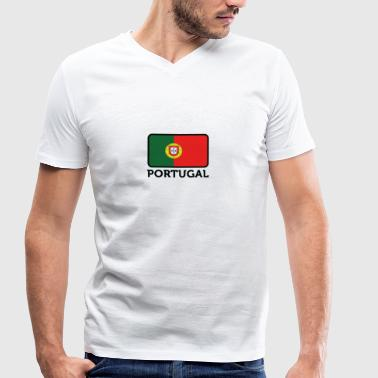National flag of Portugal - Men's Organic V-Neck T-Shirt by Stanley & Stella