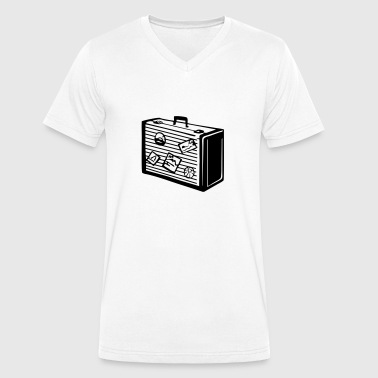 Suitcase, Bag - Men's Organic V-Neck T-Shirt by Stanley & Stella
