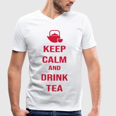 KEEP CALM AND DRINK TEA (v) - Men's Organic V-Neck T-Shirt by Stanley & Stella