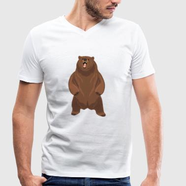 Grizzly Bear Grizzly bear - Men's Organic V-Neck T-Shirt by Stanley & Stella