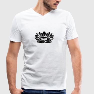 Lotus - Men's Organic V-Neck T-Shirt by Stanley & Stella