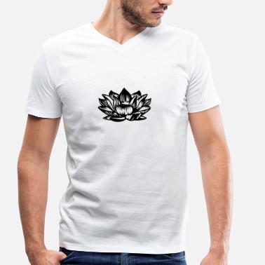 Flower Lotus - Men's Organic V-Neck T-Shirt by Stanley & Stella