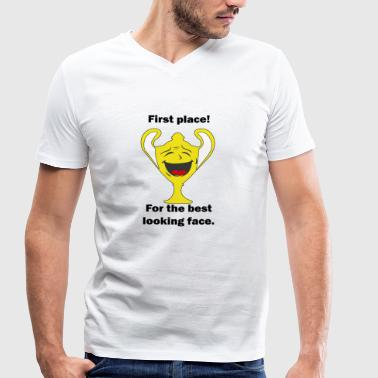 First place, most beautiful face - Men's Organic V-Neck T-Shirt by Stanley & Stella