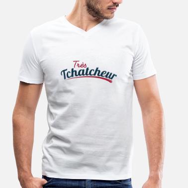Draguer Très Tchatcheur - T-shirt bio col V Stanley   Stella Homme 49ebccbe7af8