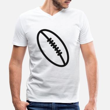 Christmas Rugby team football fan rugby team american football - Men's Organic V-Neck T-Shirt