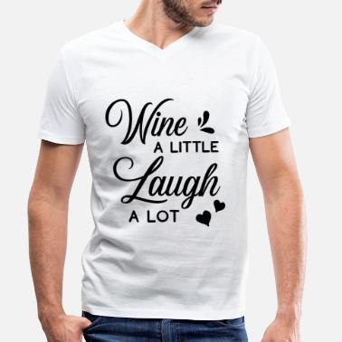 Laugh Laugh A Laugh A Lot Gift Laughing Funny - Men's Organic V-Neck T-Shirt