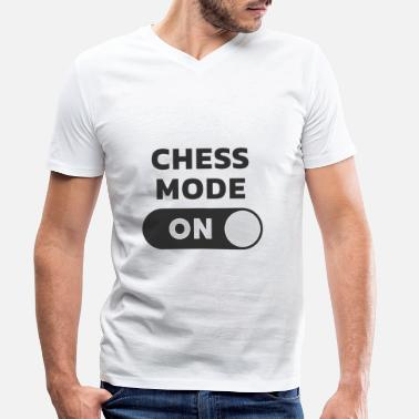 Chess Mode On Chess checkmate mode - Men's Organic V-Neck T-Shirt