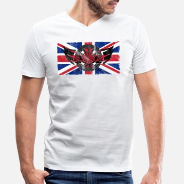 Uk Darts UK - Men's Organic V-Neck T-Shirt