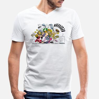 Asterix And Obelix Asterix & Obelix Fight - Men's Organic V-Neck T-Shirt