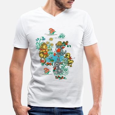 Wallpaper 1970s Wallpaper - Men's Organic V-Neck T-Shirt