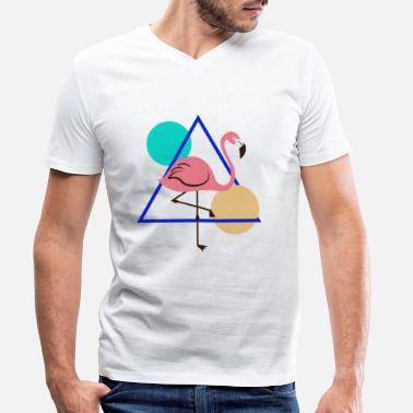 Bestsellers Q4 2018 Geometric - Men's Organic V-Neck T-Shirt