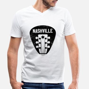 Country Nashville Tennessee - Country Music Guitar - T-skjorte med V-hals for menn