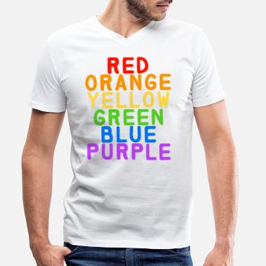 Rainbow LGBT rainbow colors - Men's Organic V-Neck T-Shirt