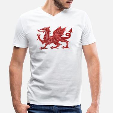 Welsh Welsh Red Dragon - Men's Organic V-Neck T-Shirt