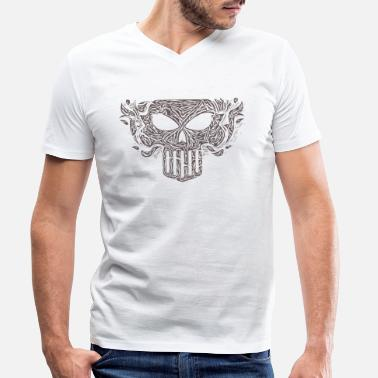 Hard Rock Skull Doom Rock Metal Hard Rock - Men's Organic V-Neck T-Shirt