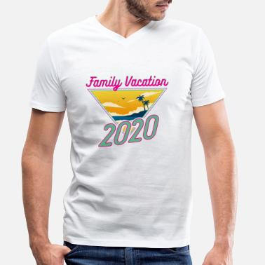 Fun Family Vacation 2020 Fun Vacation Traveler Gift - Men's Organic V-Neck T-Shirt