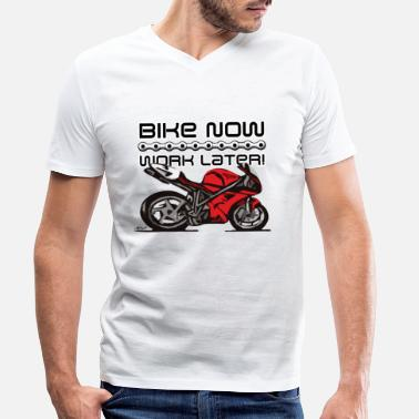 Desmo Superbike comic-style - Men's Organic V-Neck T-Shirt