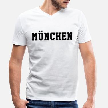 Munich Sayings Munich - Men's Organic V-Neck T-Shirt by Stanley & Stella