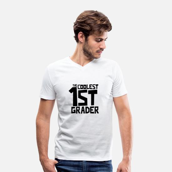 Gift Idea T-Shirts - The coolest first grader - Men's Organic V-Neck T-Shirt white