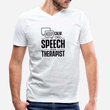 Speech Speech therapist therapy speech therapy speech therapist speech - Men's Organic V-Neck T-Shirt