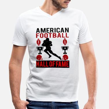 Hall Of Fame American Football Hall of Fame logo red - Men's Organic V-Neck T-Shirt