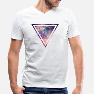 Galaxy - Space - Universe / Hipster Triangle - Men's Organic V-Neck T-Shirt