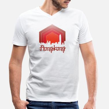 Hong Kong Hong Kong China - Design - Men's Organic V-Neck T-Shirt