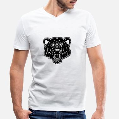 Gays Poilu Ours Ours Forêt Canada Gai Woof Tête - T-shirt bio col V Stanley & Stella Homme